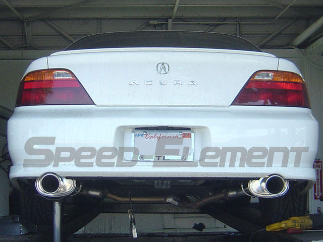 Acura TL Type S Tsudo Axle Back Exhaust JDM Oval Dual - Acura tl exhaust