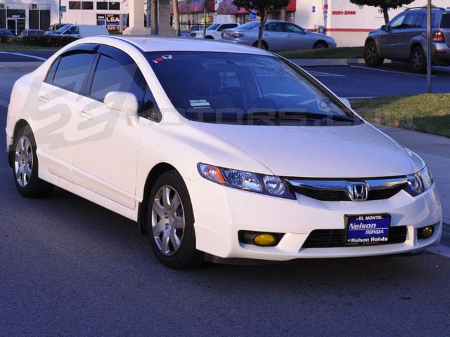 Free Shipping on SE 06-11 Honda Civic Sedan JDM Window Visors w ... a3f4f7ab987
